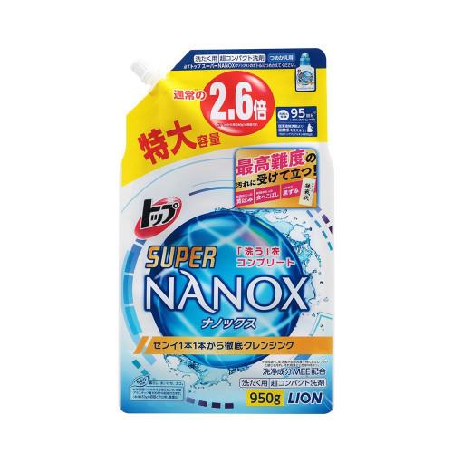 【日本境內版直售】獅王奈米樂超濃縮洗衣精補充包950g