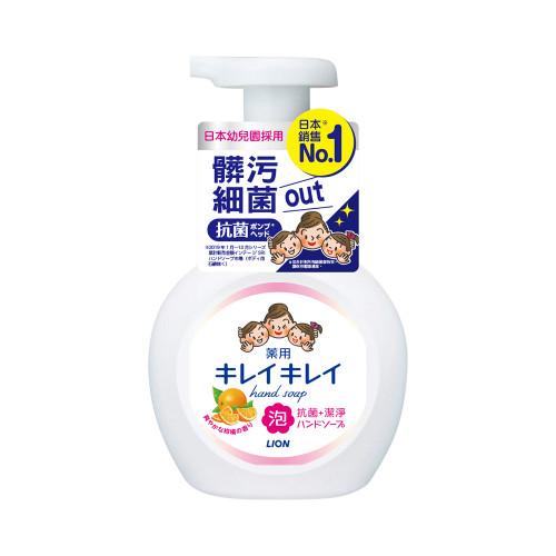 日本獅王趣淨洗手慕斯-清爽柑橘250ml