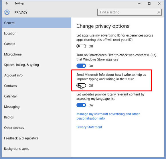 How to disable a Keylogger in Windows 10 Step 2