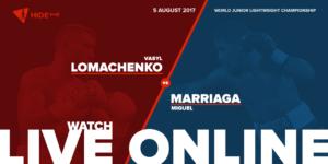 Vasyl Lomachenko vs. Miguel Marriaga Live Online