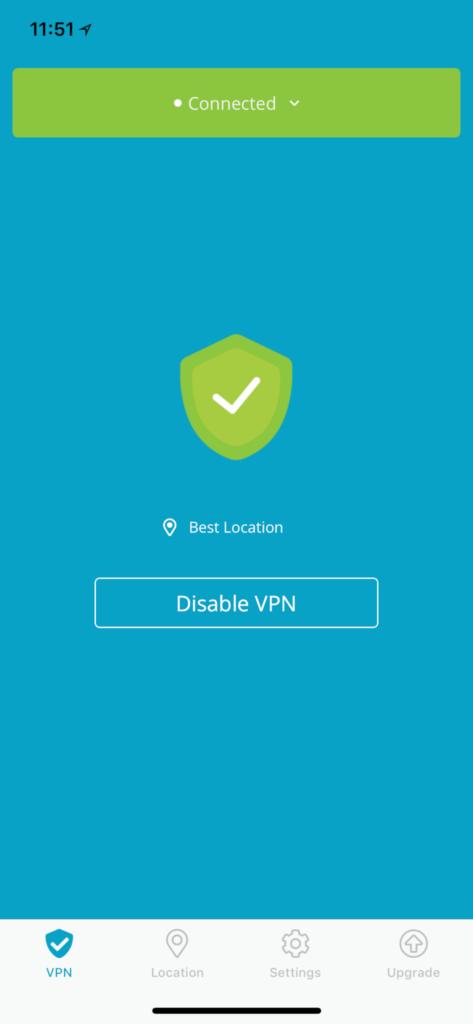 iOS VPN App New Interface