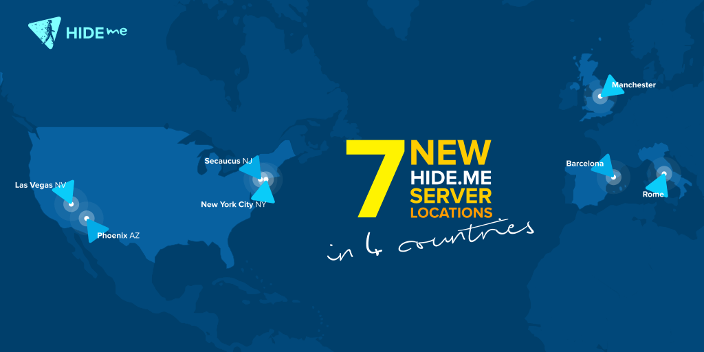 hide.me added new locations