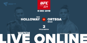UFC 231 - Holloway vs Ortega live online