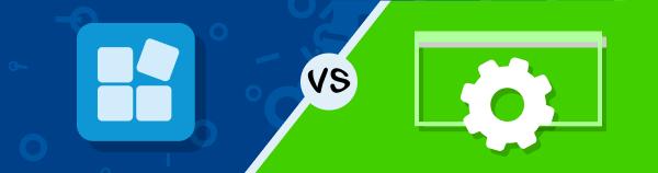 App versus manual configuration