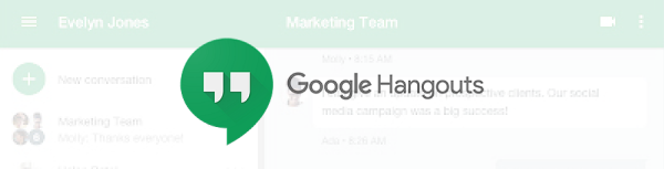 Google Hangouts – For Google users that don't need anything fancy