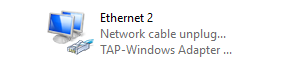 Network connections TAP Windows Adapter