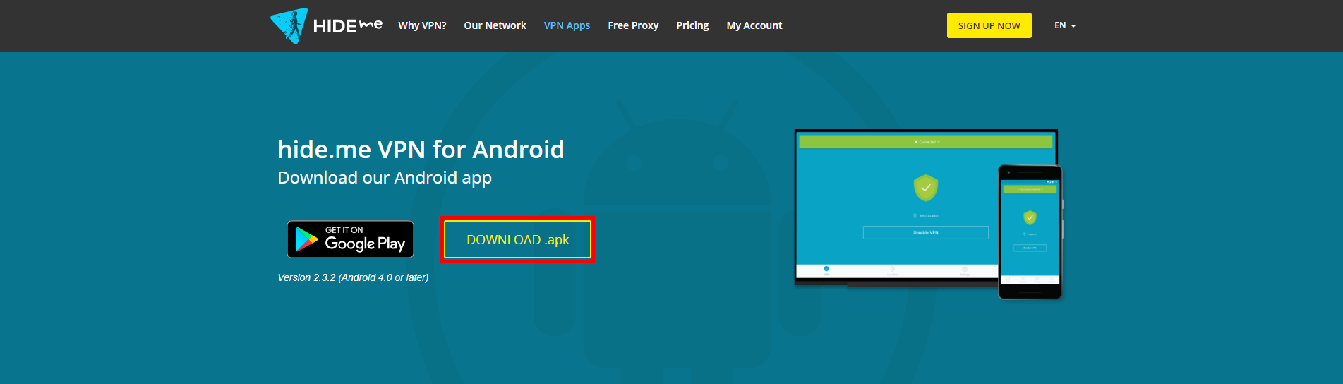 Android VPN client download .apk