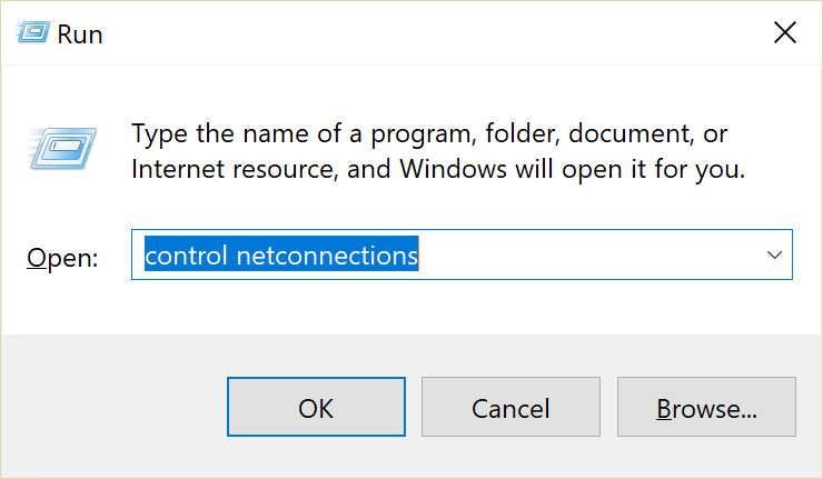 Command prompt network connections