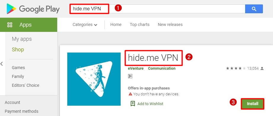 hide.me chrome os