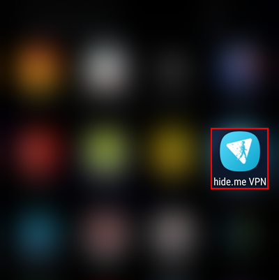 hide.me Android VPN client app in app drawer