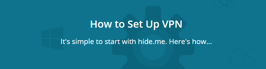 hide.me supported devices and platform