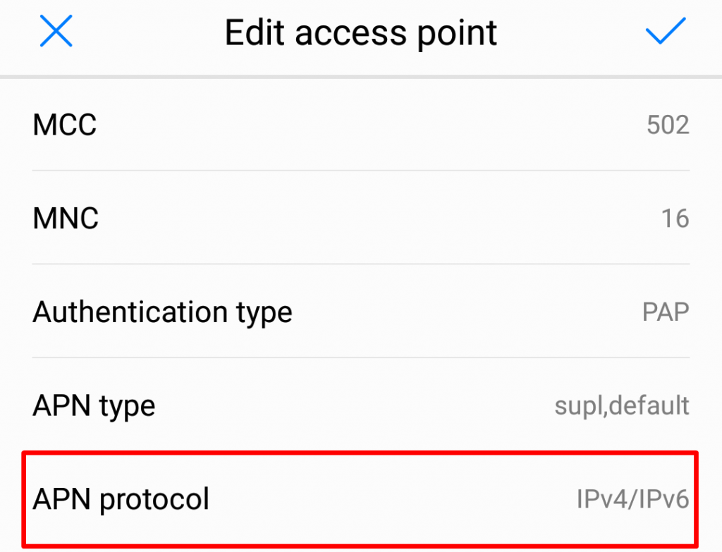 Android APN protocol
