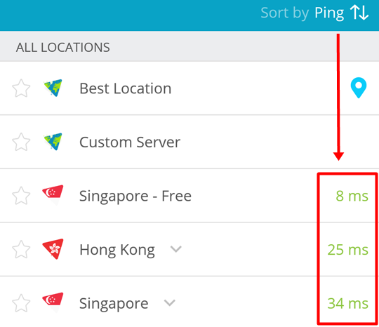 How To Pick The Fastest VPN Location On Android? | hide me