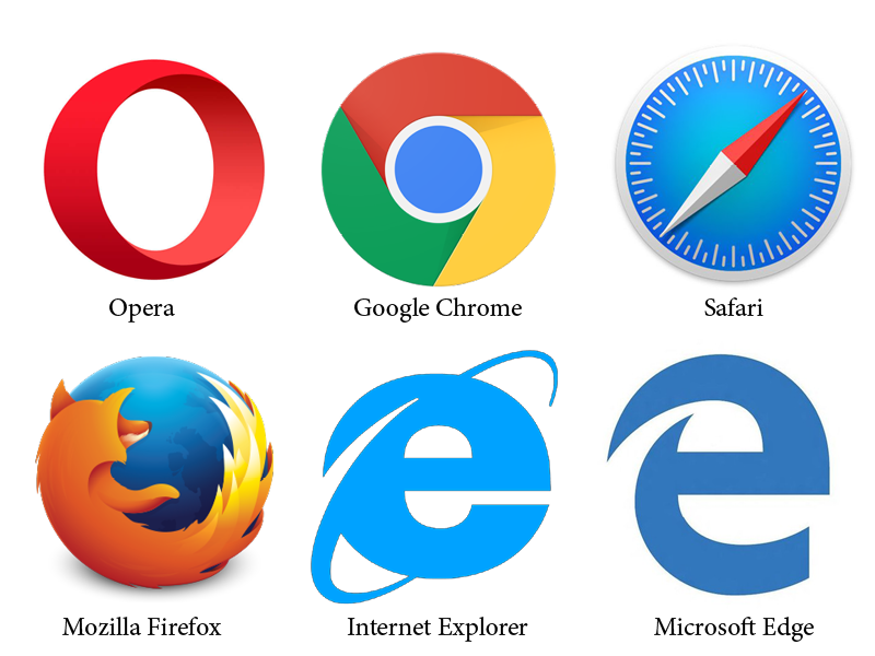 common web browsers