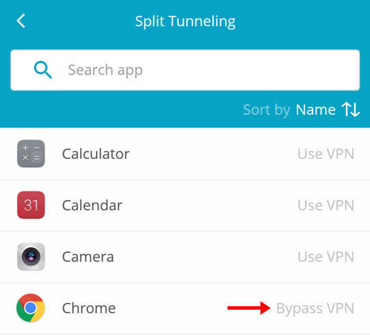 hide me android split tunneling - bypass vpn