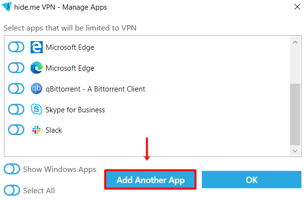 adding apps to stealth guard