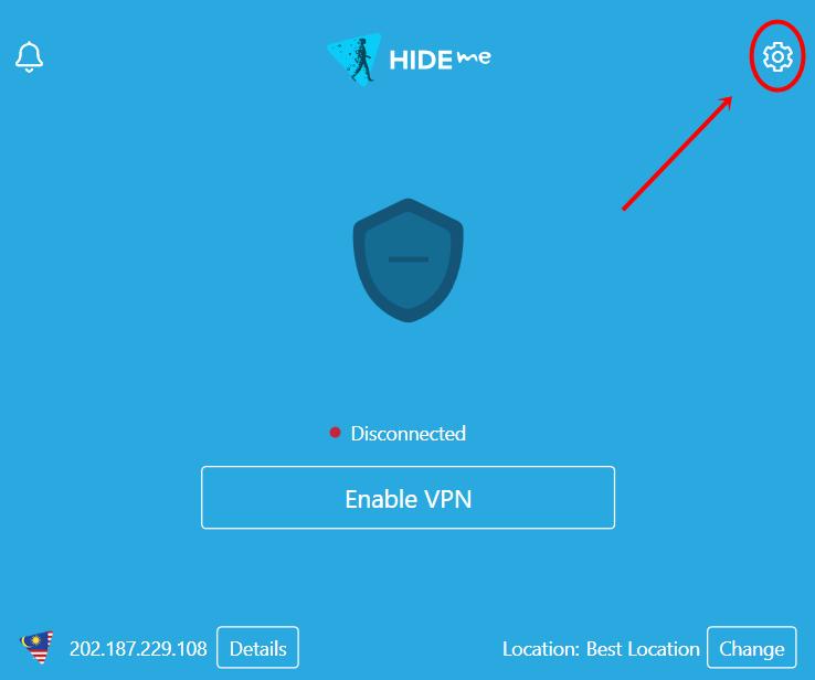 hide.me VPN settings