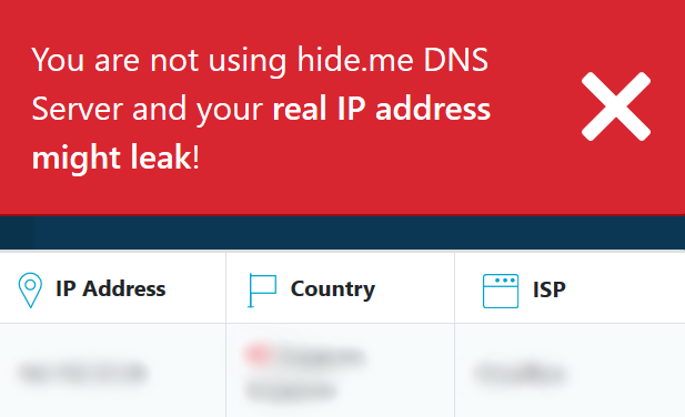 hide me ip check red banner