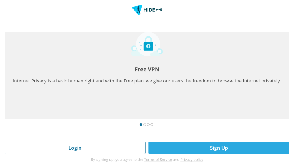 login into hide.me app for android TV