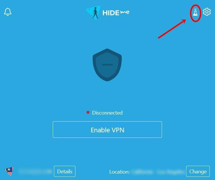hide.me lab settings