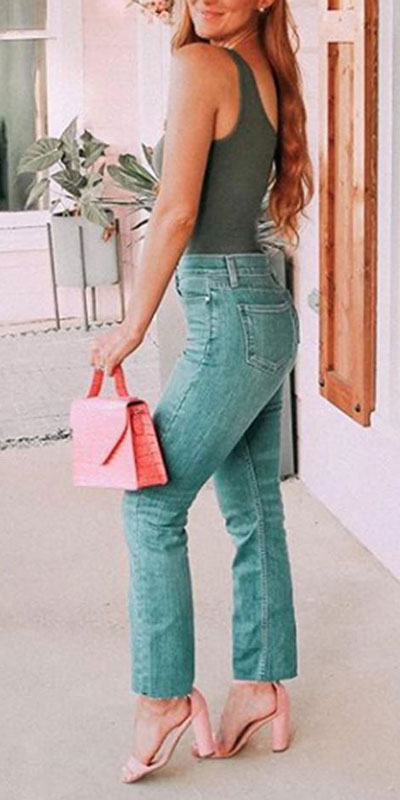 26 Preppy jeans ideas to Start Wearing Now. Preppy summer outfits via higiggle.com