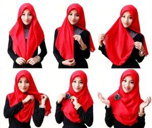 Jilbab Segi Empat Muka Lonjong