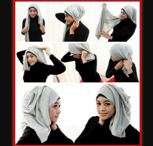 Hijab Pashmina Glitter Simple