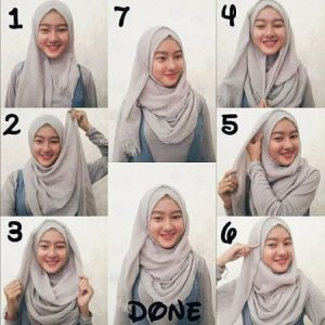 Hijab Pashmina Rawis Super Simple