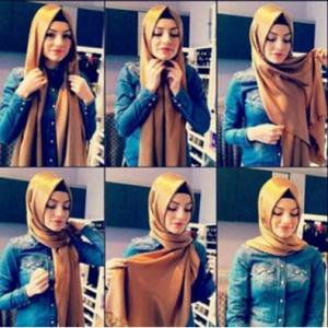 Hijab Pashmina Satin Wajah Oval