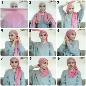 Hijab Segitiga untuk Acara Pesta