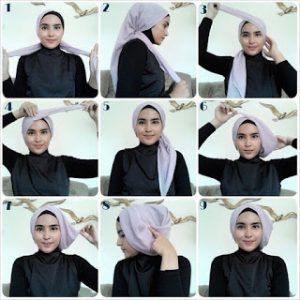 Hijab Turban Segi Empat Paris Simple Formal
