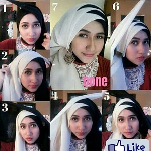 Hijab Paris Dua Warna Simple Elegan