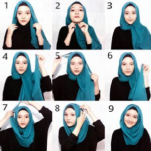 Hijab Pesta Pashmina Simple Elegan