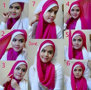 Hijab Segi Empat Paris Dua Warna Simple