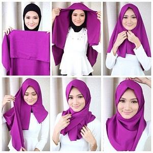 Hijab Segi Empat Polos Simple Mudah