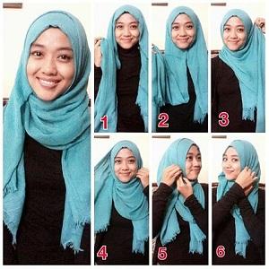 Hijab Pashmina Rawis Casual Anggun