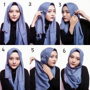 Hijab Pashmina Rawis Simple Modern