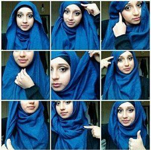 Hijab Pashmina Kaos Simple Casual