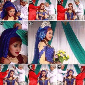 tutorial hijab akad nikah 8