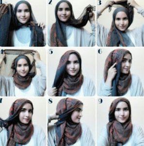 tutorial hijab casual 3