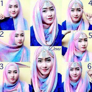 tutorial hijab lebaran 5