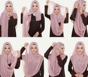 tutorial hijab menutup dada untuk kebaya 2