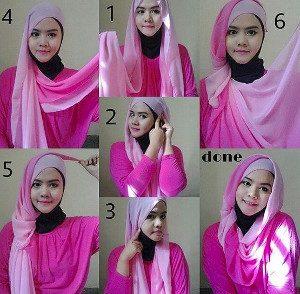tutorial hijab ombre 9