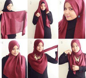 tutorial hijab syar'i untuk wisuda 5