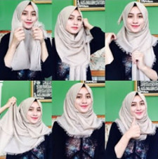 tutorial hijab ala ria ricis 1