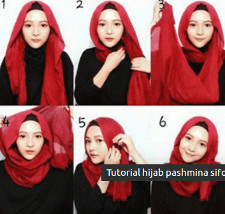 tutorial hijab ala ria ricis 3