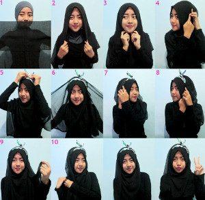 tutorial hijab arabian segi empat 3