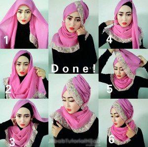 tutorial hijab arabian segi empat 6