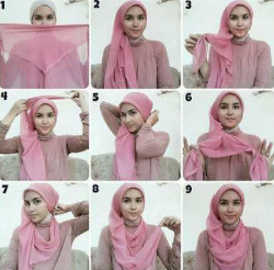 tutorial hijab simple kebaya 10