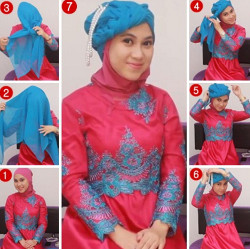tutorial hijab simple kebaya 4
